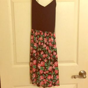 Floral Victoria's Secret fitted bodice tank dress!